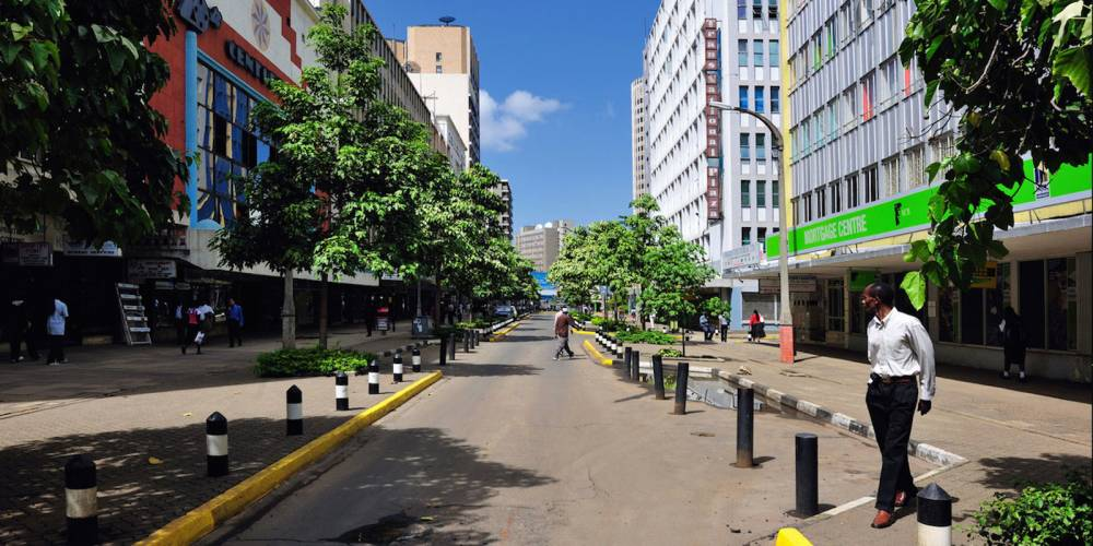Vue sur une rue à Nairobi, au Kenya. ©  magicalkenya