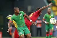 Nakoulma et les Burkinabè sont parvenus à résister jusqu'au bout face au Ghana avant de s'imposer (1-0). ©STEVE JORDAN