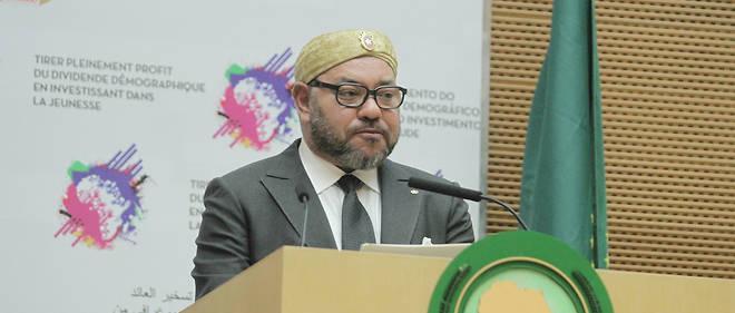 Le roi du Maroc Mohammed VI s'exprime pour la première fois depuis 33 ans devant ses pairs au siège de l'Union africaine à Addis Abeba.