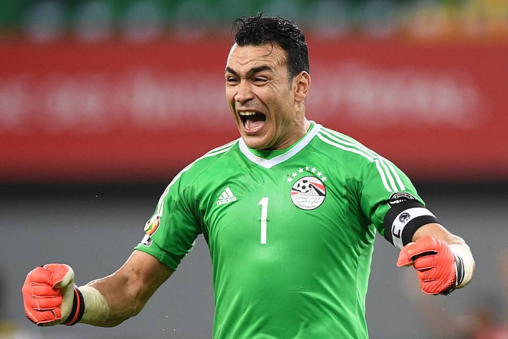 Gardien enthousiaste, Essam El-Hadary aime célébrer les buts de ses coéquipiers. ©  JUSTIN TALLIS / AFP