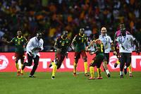 La joie de Vincent Aboubakar qui offre la victoire aux Lions indomptables (2-1). ©GABRIEL BOUYS