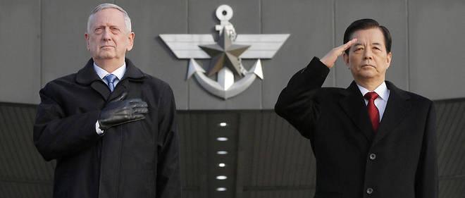 Le secrétaire à la Défense Jim Mattis et son homologue coréen Han Min-koo, le 3 février à Séoul.