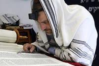 La lecture de la Torah dans une synanogue parisienne. ©Pascal Deloche/Godong