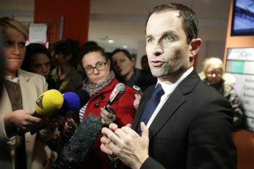 Benoît Hamon le 9 février 2017 à Guéret dans la Creuse  © PASCAL LACHENAUD AFP/Archives