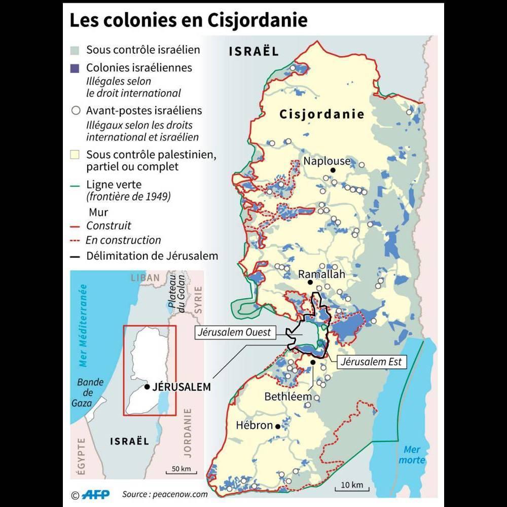 Les colonies israéliennes ©  AFP