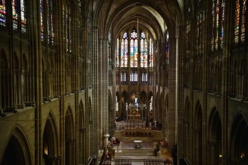 Dans la basilique de Saint-Denis le 19 octobre 2016 © CHRISTOPHE ARCHAMBAULT AFP/Archives