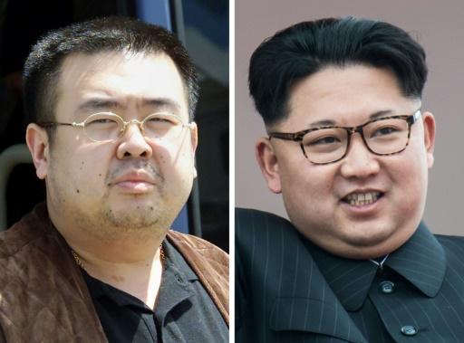 Montage de portraits d'archives de Kim Jong-Nam le 4 mai 2001, et de Kim Jong-Un le 10 mai 2016 © Toshifumi KITAMURA, Ed JONES AFP/Archives