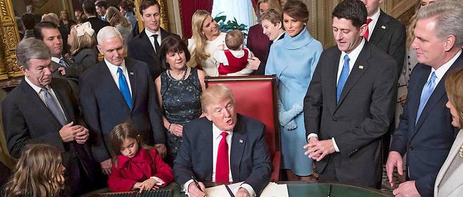Donald Trump au Capitole, à Washington, le 20 janvier.