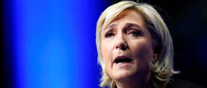 """""""Comme pendant les régionales, je ne répondrai pas pendant la campagne électorale"""", a déclaré Marine Le Pen."""