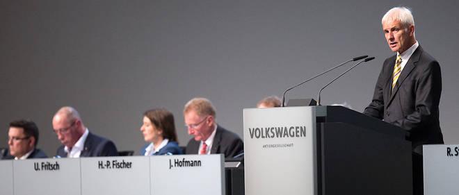 Matthias Müller, à l'assemblée générale des actionnaires du Groupe Volkswagen