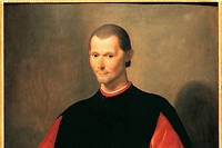 Niccolo di Bernardo dei Machiavelli (Nicolas Machiavel, 1469-1527), homme politique et philosophe italien. Tableau de Santi di Tito (1536-1603) Palazzo Vecchio. Florence.