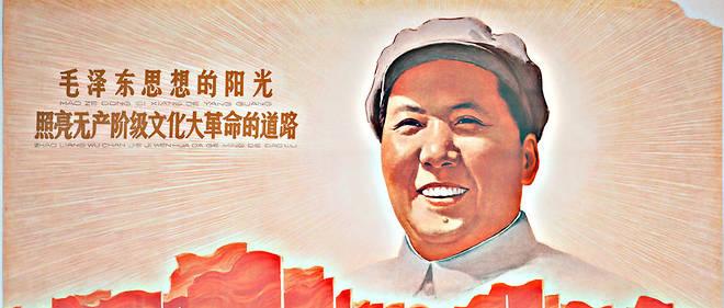 Le soleil de la pensée de Mao Zedong (Tse Toung) illumine le chemin de la grande révolution culturelle prolétarienne - Anonyme. Lithographie couleur1967. Collection privée. FineArtImages/Leemage