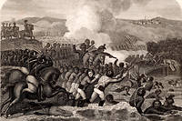 Le 2 décembre 1805, Napoléon bat les Autrichiens et les Russes, qui reconnaissent leur défaite par le traité de Presburg, le 26 décembre 1805. ©Ann Ronan Picture Library