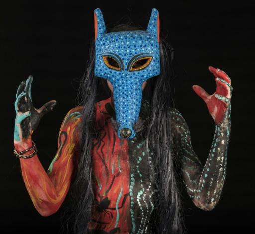 Un participant au carnaval de masques, le 28 février 2017 à San Martin Tilcajete, dans l'Etat d'Oaxaca, au Mexique © OMAR TORRES AFP