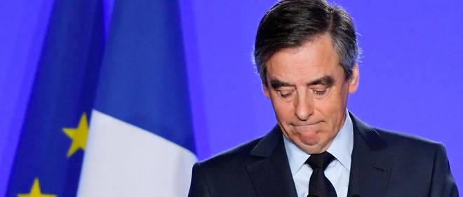 """François Fillon lors de sa conférence de presse du 1er mars. Convoqué par la justice, il dénonce un """"procès politique""""."""