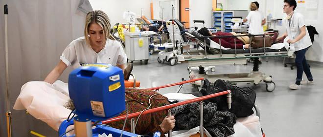 Le personnel médical de plusieurs hôpitaux a dû faire face en janvier à un afflux de patients.