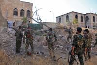 Des soldats pro-gouvernement à Alep. Image d'illustration.