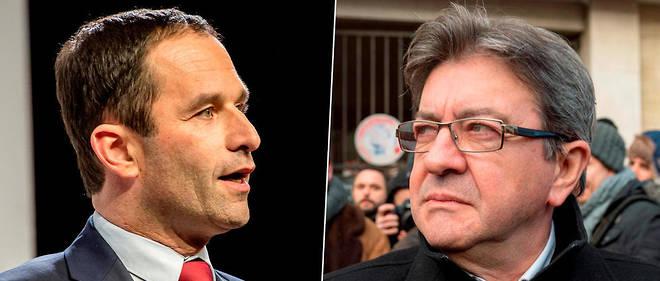 Benoît Hamon et Jean-Luc Mélenchon. «Cette gauche-là est moins anticapitaliste – peu de nationalisations dans ses programmes – qu'antilibérale.»