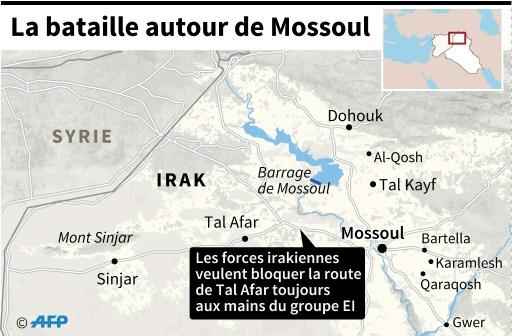 La bataille autour de Mossoul © Kun TIAN, Gillian HANDYSIDE AFP