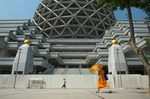 Vue sur le temple Dhammakaya, près de Bangkok, en Thaïlande, le 1er mars 2017 © Roberto SCHMIDT AFP