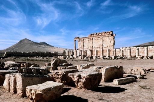 Vue sur les ruines de Palmyre, en Syrie, le 28 novembre 1977 © - AFP/Archives