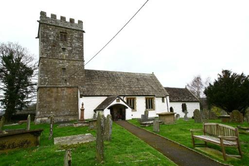 L'église St Bartholomew, à cinq minutes en voiture du centre-ville d'Abergavenny, le 1er mars 2017 © GEOFF CADDICK AFP