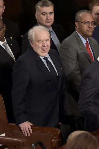 L'ambassadeur de Russie aux Etats-Unis, Sergueï Kisliak, le 28 février 2017 à Washington © Brendan SMIALOWSKI AFP