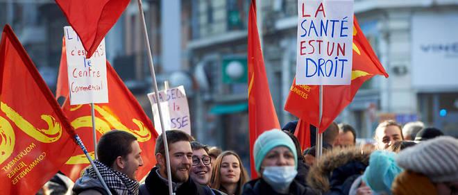Une manifestation de personnels médicaux à Toulouse, le 24 janvier 2017.