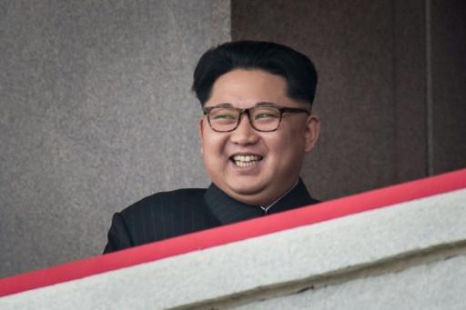 Le leader nord coréen Kim Jong-Un, le 10 mai 2016 lors d'un défilé militaire à Pyongyang © Ed Jones AFP/Archives