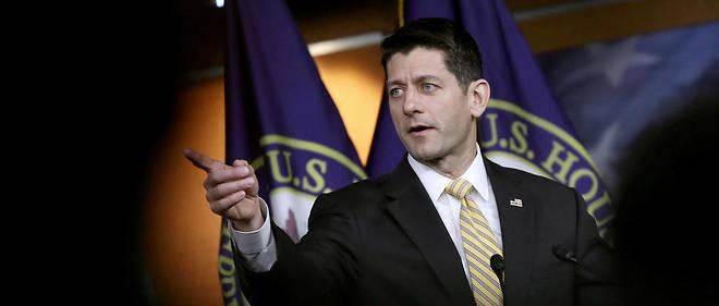 Le président de la Chambre des représentants, Paul Ryan, lors d'une conférence de presse au Congrès à Washington DC, le 2 mars 2017.