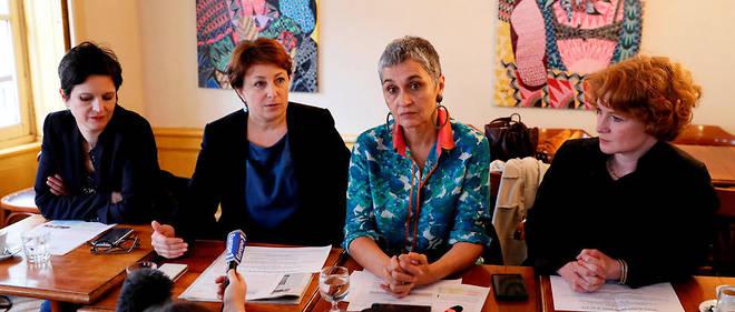 De gauche à droite : Sandrine Rousseau, Isabelle Attard, Annie Lahmer et Elen Debost