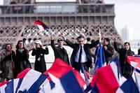 François Fillon lors du rassemblement de soutien à sa candidature sur la place du Trocadéro, le 5 mars 2017.  ©Vincent Isore