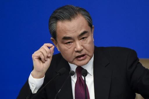 Le ministre chinois des Affaires étrangères Wang Yi, le 8 mars 2017 à Pékin © WANG ZHAO AFP