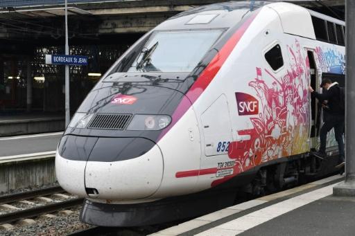 L'Océane, le nouveau TGV qui reliera Bordeaux à Paris, lors de son inauguration à Bordeaux, le 11 décembre 2016 © MEHDI FEDOUACH AFP/Archives
