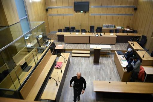 La salle d'audience où s'ouvre le procès de l'attentat du Drugstore Publicis, le 13 mars 2017 à Paris © Eric FEFERBERG AFP