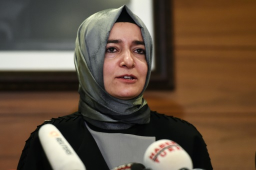 La ministre turque de la Famille Fatma Betül Sayan Kaya, à Istanbul le 12 mars 2017 © OZAN KOSE AFP