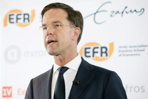 Le Premier ministre néerlandais et candidat aux législatives Mark Rutte le 13 mars 2017 à Rotterdam  © Bart Maat ANP/AFP
