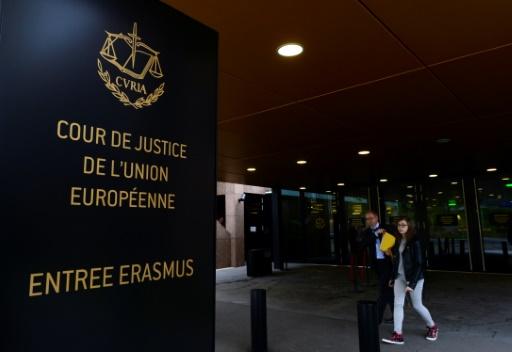L'entrée de la Cour de justice de l'Union européenne, le 5 octobre 2015 à Luxembourg © JOHN THYS AFP/Archives