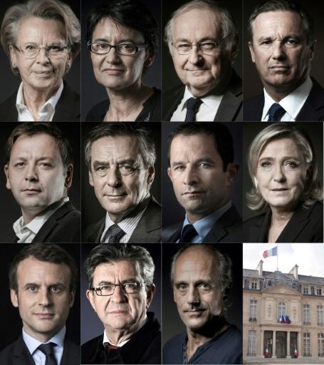 Les candidats à l'élection présidentielle  © STR AFP/Archives