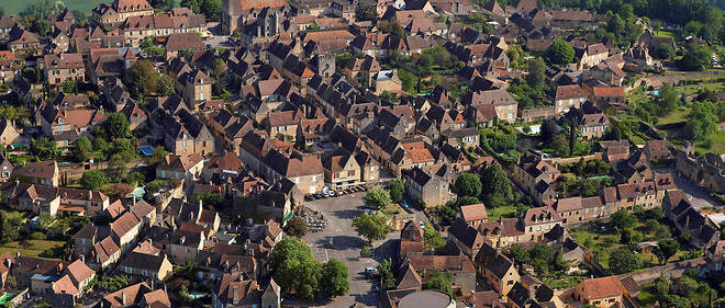 Le village de Domme en Dordogne.