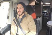 Thibault, jeune Montilien auto-stoppeur.