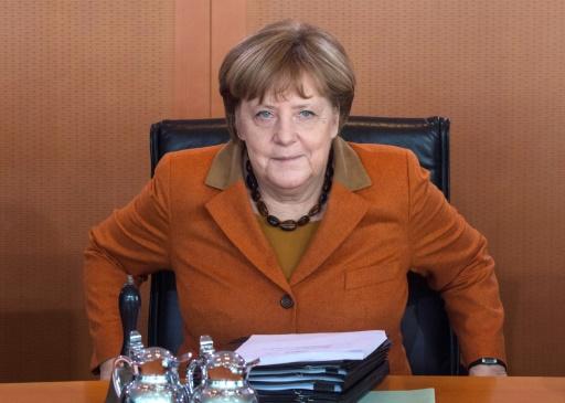 La chancelière Angela Merkel le 15 mars 2017 à Berlin  © John MACDOUGALL AFP/Archives