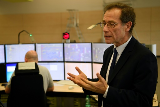 Ledirecteur général déléguéde SNCF Réseau, Claude Solard, lors d'une visite de la nouvelle tour de contrôle de la gare de Lyon, le 13 mars 2017 à Vigneux-sur-Seine © CHRISTOPHE SIMON AFP