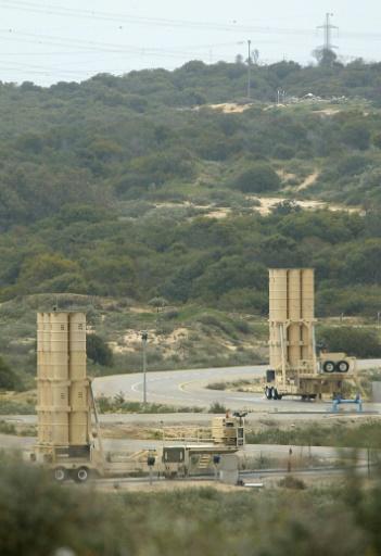 Des systèmes de défense antimissiles Arrow, le 20 mars 2003 à la base aérienne militaire de Palmachim, au sud de Tel-Aviv, en Israël © PEDRO UGARTE AFP/Archives