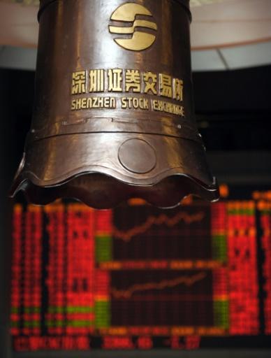 """SF Express, parfois surnommé le """"FedEx chinois"""" est coté à la Bourse de Shenzhen © LAURENT FIEVET AFP/Archives"""