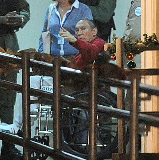 L'ancien dictateur panaméen Manuel Noriega à son arrivée à la prison Renacer, le 11 décembre 2011 à Panama © Rodrigo ARANGUA AFP/Archives