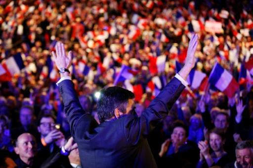 François Fillon en meeting le 16 mars 2017 à Caen © CHARLY TRIBALLEAU AFP