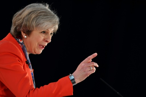 Theresa May, le 17 mars 2017 à Cardiff © BEN STANSALL AFP