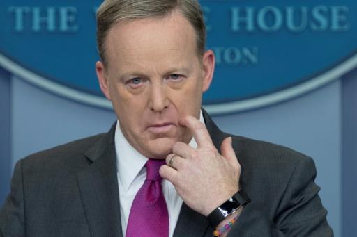 Sean Spicer, porte-parole de l'exécutif, le 9 mars 2017 à la Maison Blanche © JIM WATSON AFP