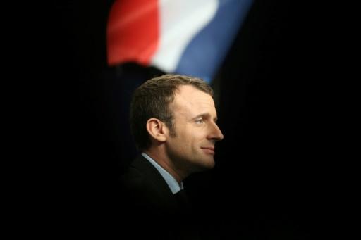 Emmanuel Macron en meeting à Reims, le 17 mars 2017  © François NASCIMBENI AFP
